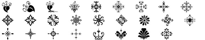 Polytype Ornaments Font Sample