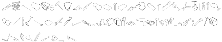 Tech Tools Font Sample