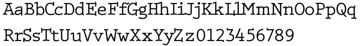Monotonose Font Sample