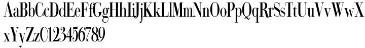 Bodoni Classic Condensed Font Sample
