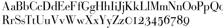Bodoni Classic Hand Font Sample