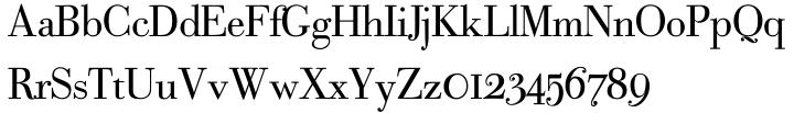 Bodoni Classic Text Font Sample