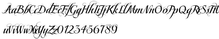 Scriptissimo Forte Swirls Font Sample