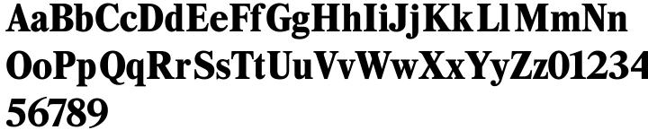 Kresson Black Font Sample