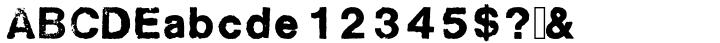 Sztempel™ Font Sample