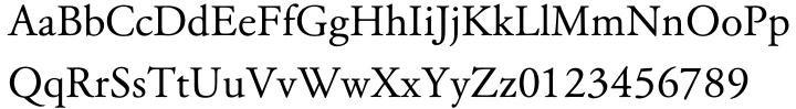 Garamond Classico™ Font Sample
