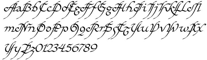 EF Elf™ Font Sample
