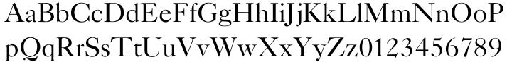 New Caslon EF™ Font Sample
