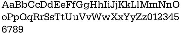 Serifa® EF Font Sample