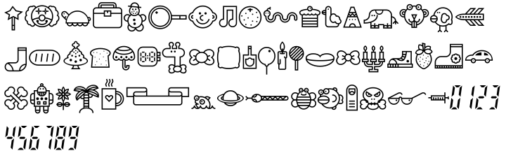 Tomoli 2 Font Sample