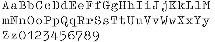 Lasertac Stencil Font Sample