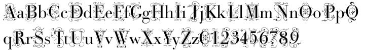 Bodoni Classic Deco Font Sample