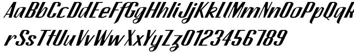CA Spy Royal Font Sample