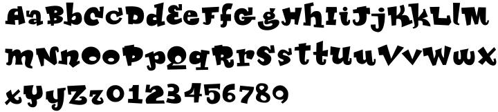 Glammer Girl Font Sample