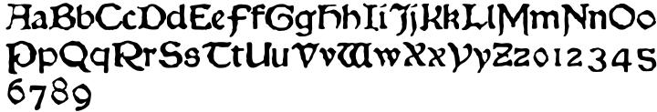 Chaucer Font Sample