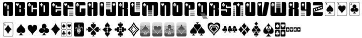 Dealer's Choice™ Font Sample