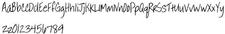 Annie BTN Font Sample