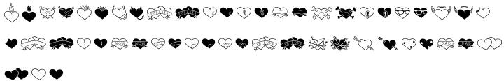 Heart Breaker BTN Font Sample