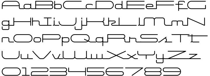 Starliner BTN Font Sample