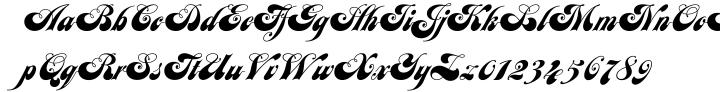 Julia Script™ Font Sample