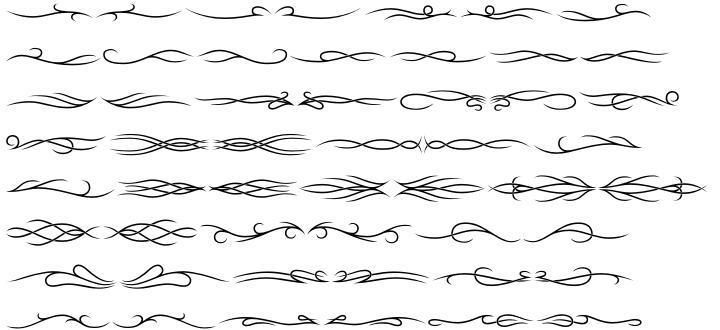 Tribal Dividers BTN Font Sample