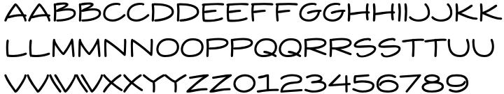 Yuba BTN Font Sample