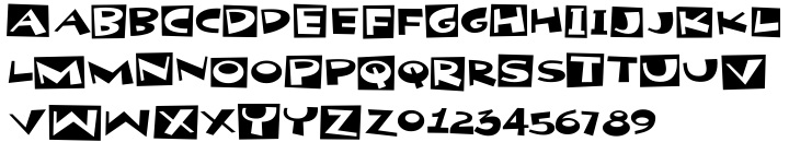 Party Noid Font Sample