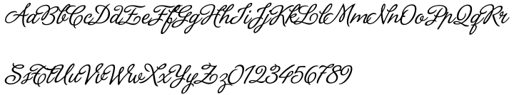 La Portenia Font Sample