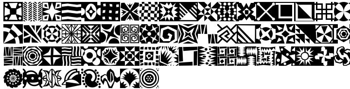 Mini Pics Doohickies™ Font Sample