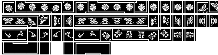 LTC Water Garden Ornaments™ Font Sample