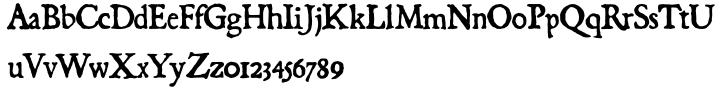 Black Beard Font Sample