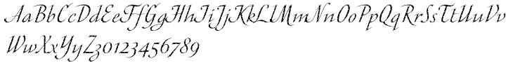 ITC Cali™ Font Sample