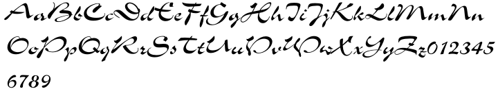 Slogan™ Font Sample