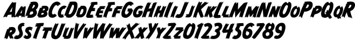 Monster Mash Font Sample