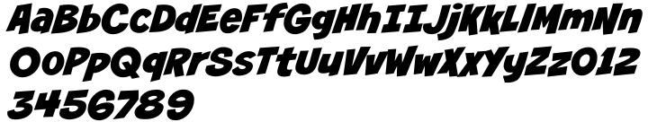 Smash Font Sample