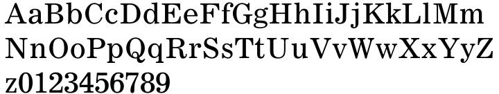 Corona® Font Sample