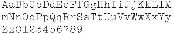 LTC Remington Typewriter™ Font Sample