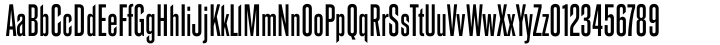 Road Gothic Font Sample