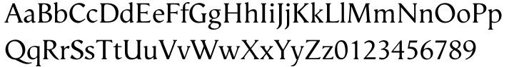Vega™ Font Sample