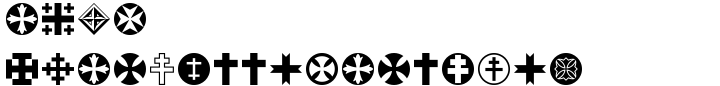 Cross Ornaments Font Sample