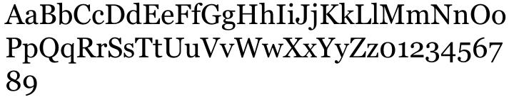 Georgia® Font Sample