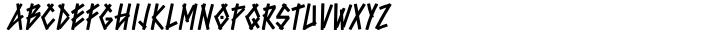Bluntz™ Font Sample
