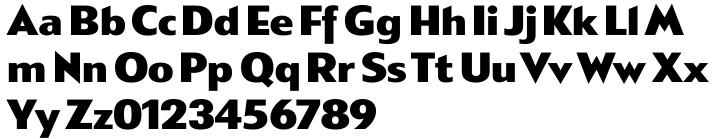 Metro Gothic Font Sample