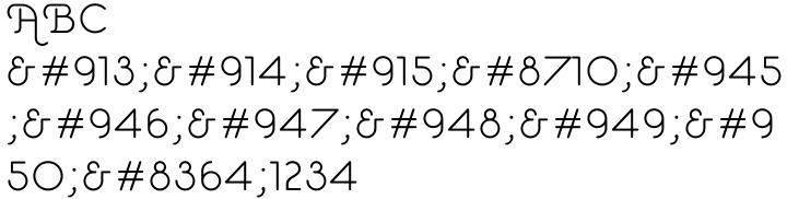 Estilo Script Font Sample