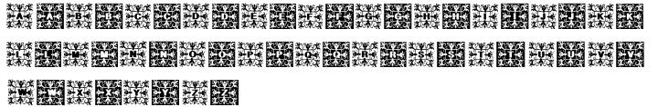 Geodec Fleurons Font Sample