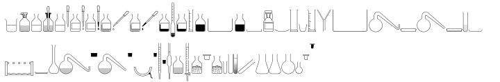 Chemtools™ Font Sample