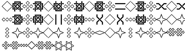 Framealot Font Sample