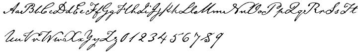 Emily Austin™ Font Sample