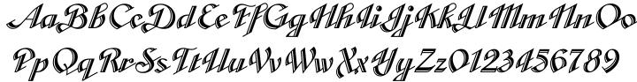 Cabarga Cursiva™ Font Sample