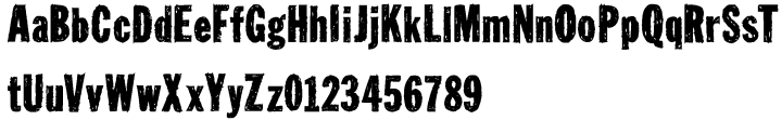 Tuzonie™ Font Sample